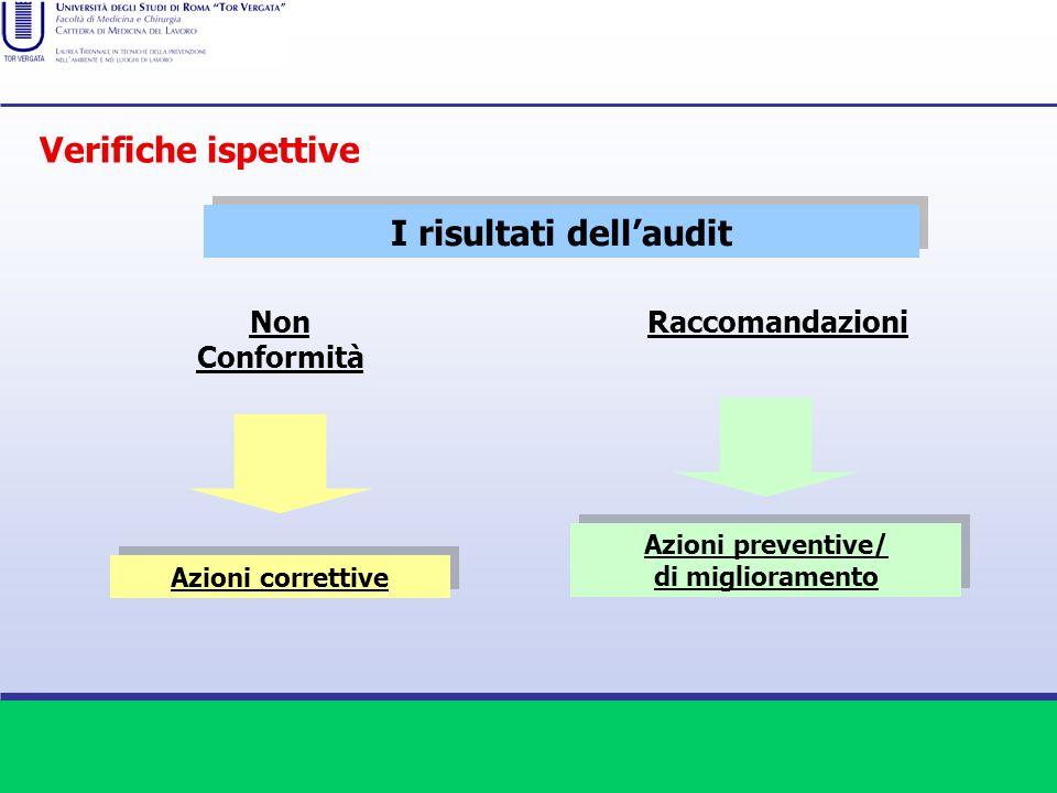 I risultati dell'audit