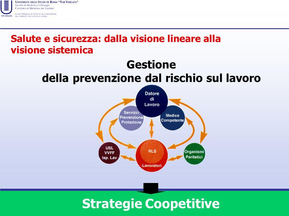 della prevenzione dal rischio sul lavoro Strategie Coopetitive