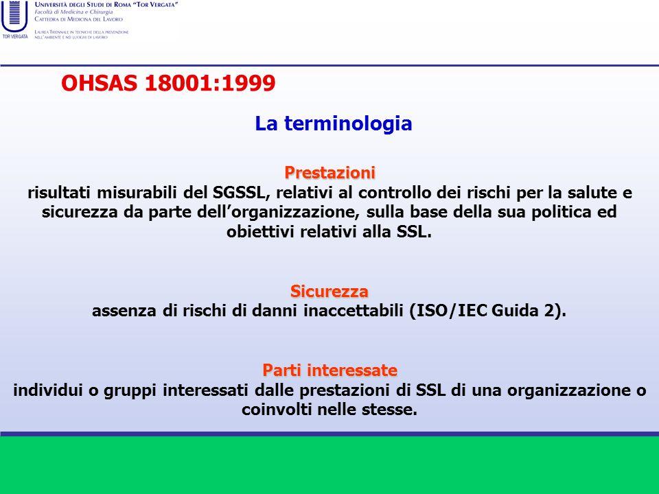 assenza di rischi di danni inaccettabili (ISO/IEC Guida 2).