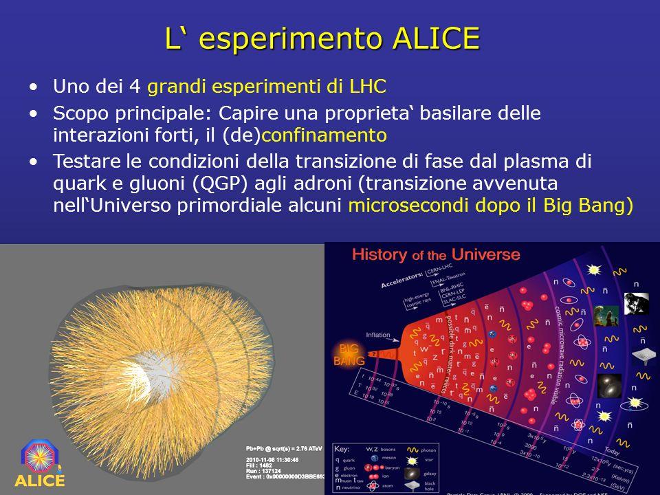 L' esperimento ALICE Uno dei 4 grandi esperimenti di LHC