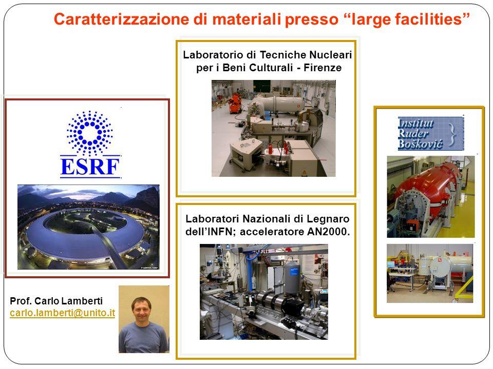 Caratterizzazione di materiali presso large facilities