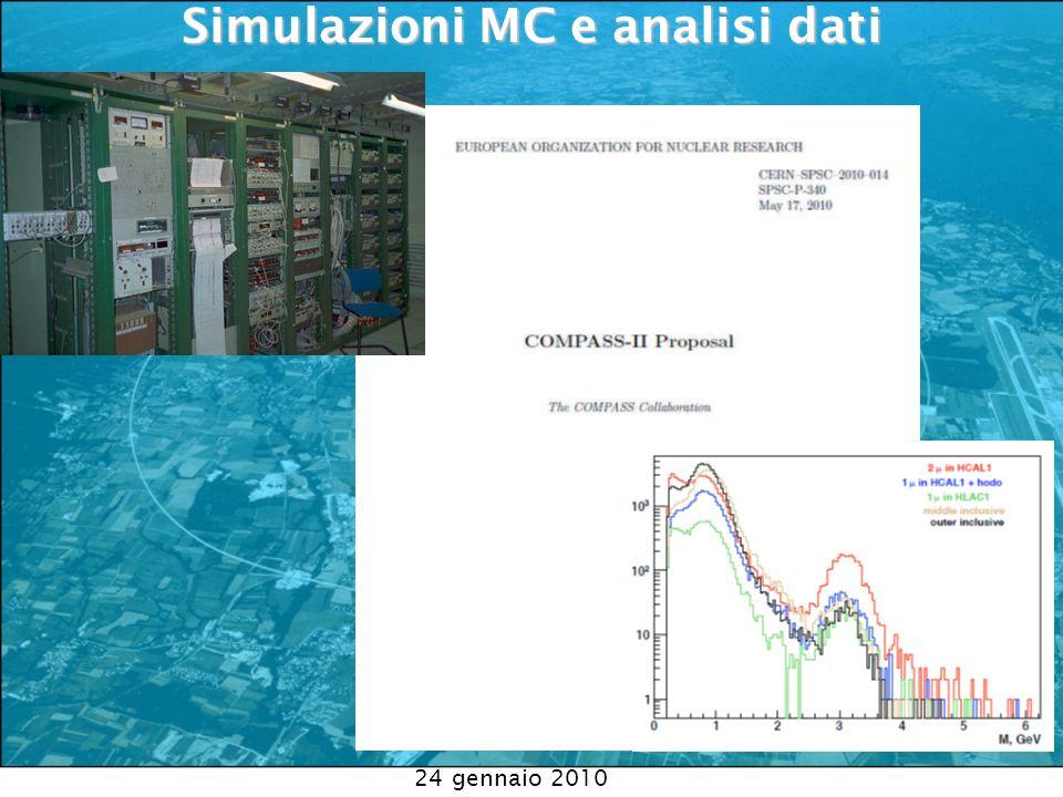 Simulazioni MC e analisi dati