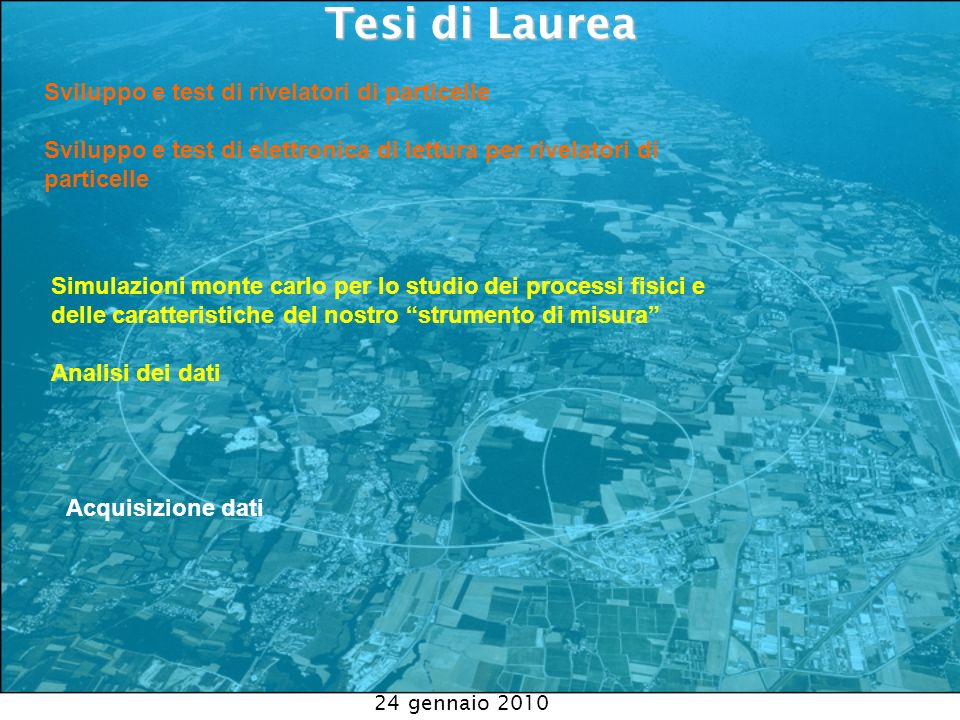 Tesi di Laurea Sviluppo e test di rivelatori di particelle
