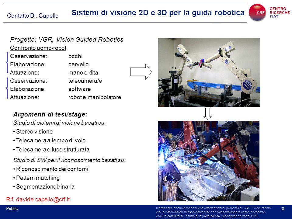 Sistemi di visione 2D e 3D per la guida robotica