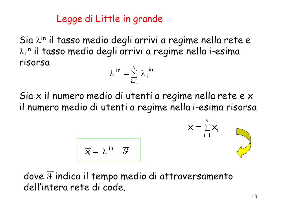 Legge di Little in grande