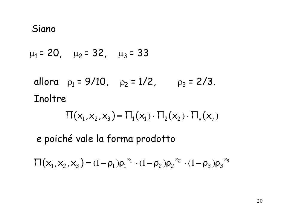Siano 1 = 20, 2 = 32, 3 = 33. allora 1 = 9/10, 2 = 1/2, 3 = 2/3.