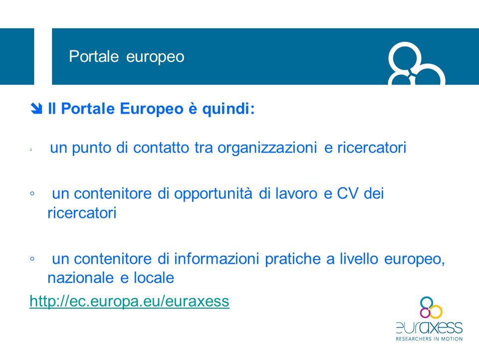 Portale europeo  Il Portale Europeo è quindi: