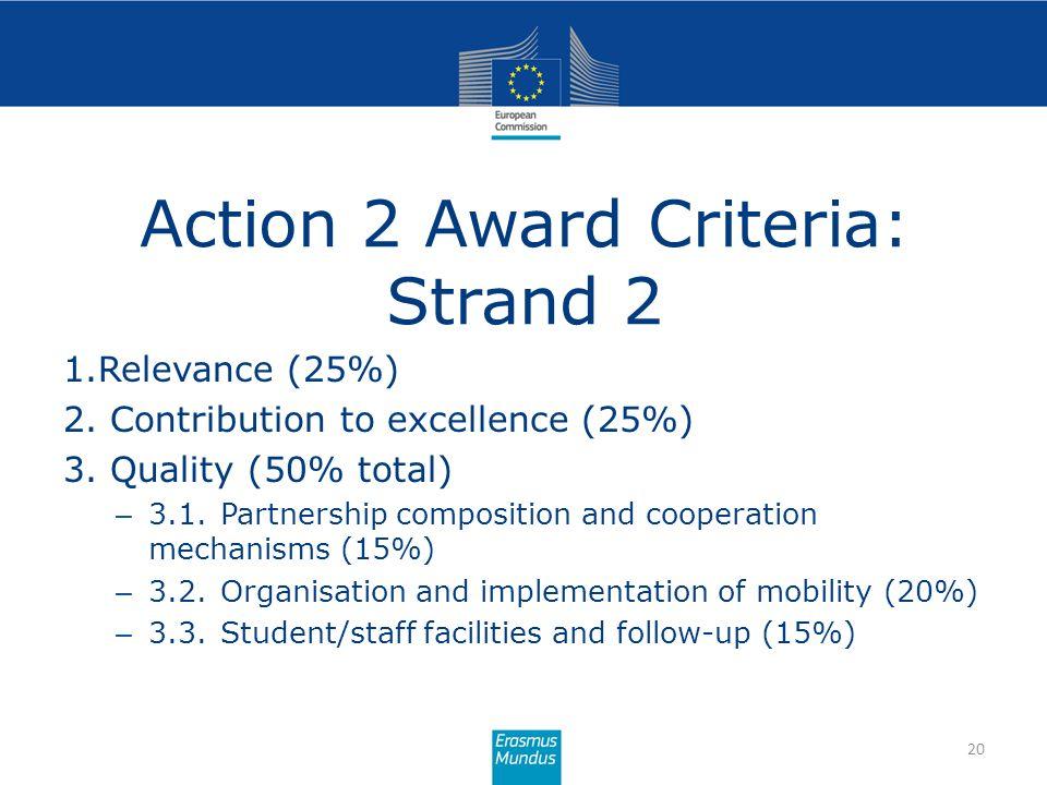 Action 2 Award Criteria: Strand 2