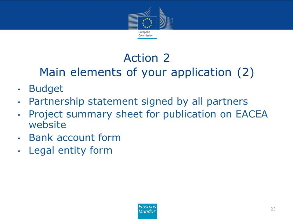 Action 2 Main elements of your application (2)