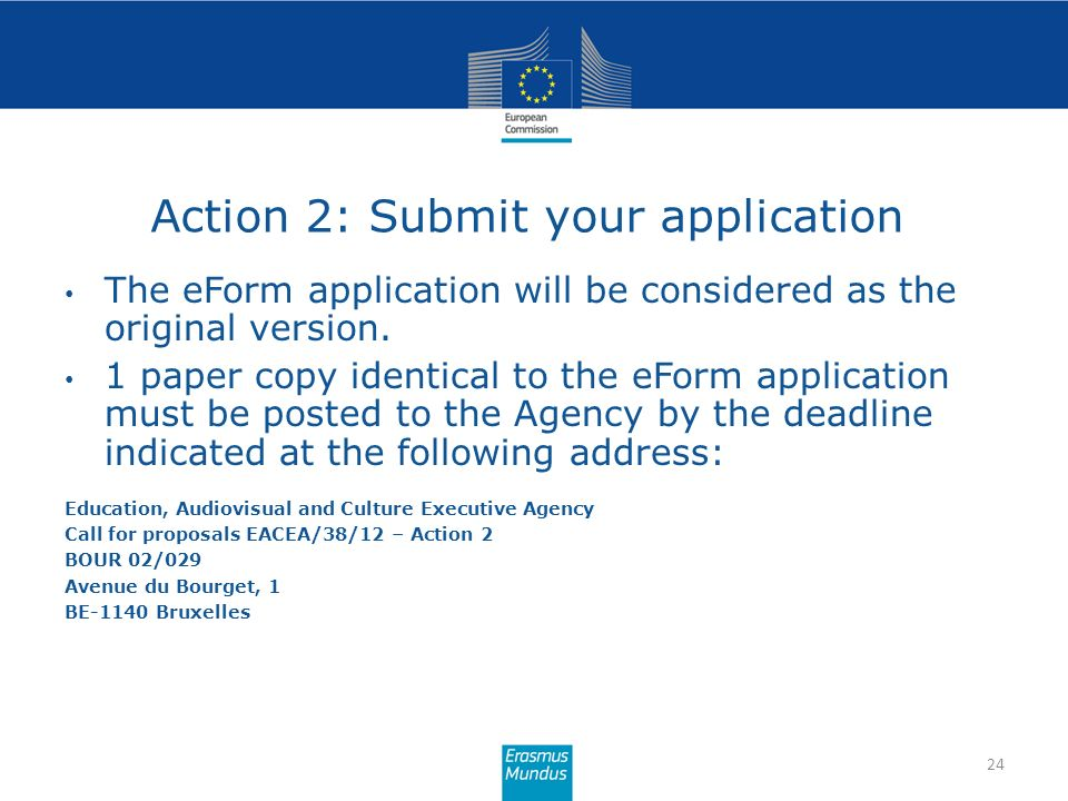 Action 2: Submit your application