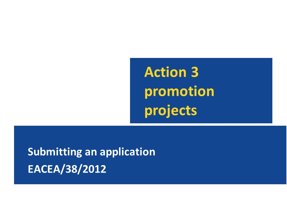 Action 3 promotion projects