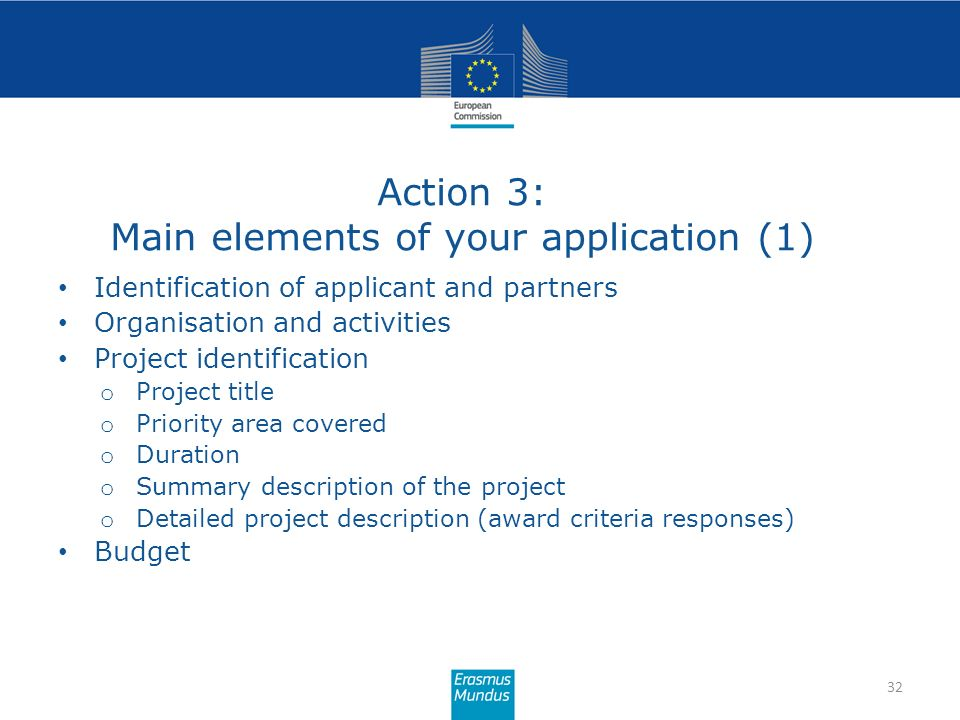 Action 3: Main elements of your application (1)