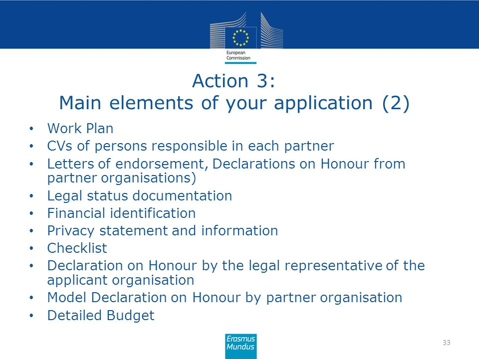 Action 3: Main elements of your application (2)