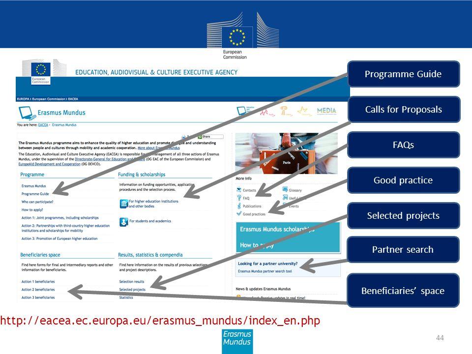 More information http://eacea.ec.europa.eu/erasmus_mundus/index_en.php
