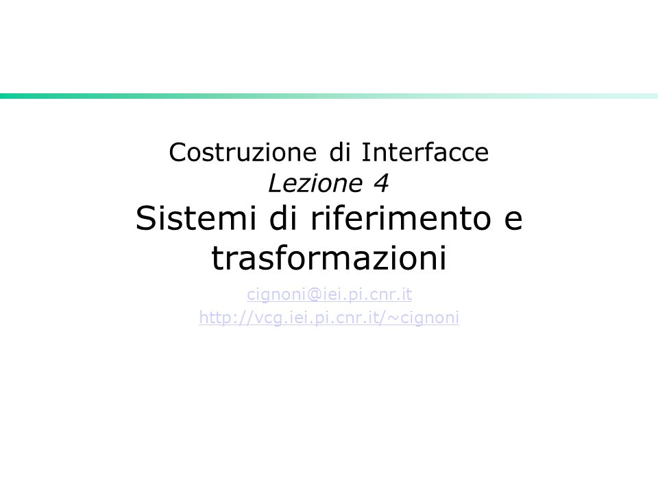 cignoni@iei.pi.cnr.it http://vcg.iei.pi.cnr.it/~cignoni