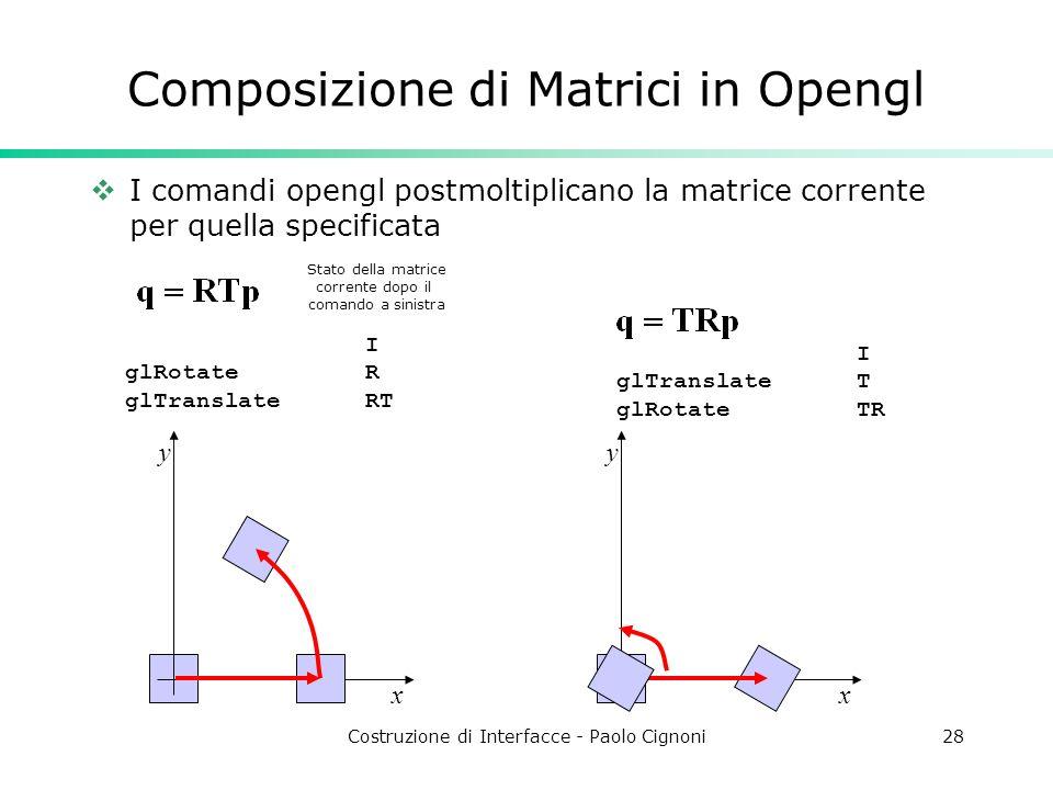 Composizione di Matrici in Opengl