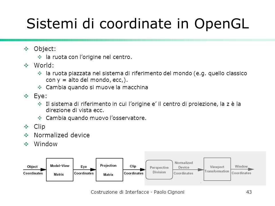 Sistemi di coordinate in OpenGL