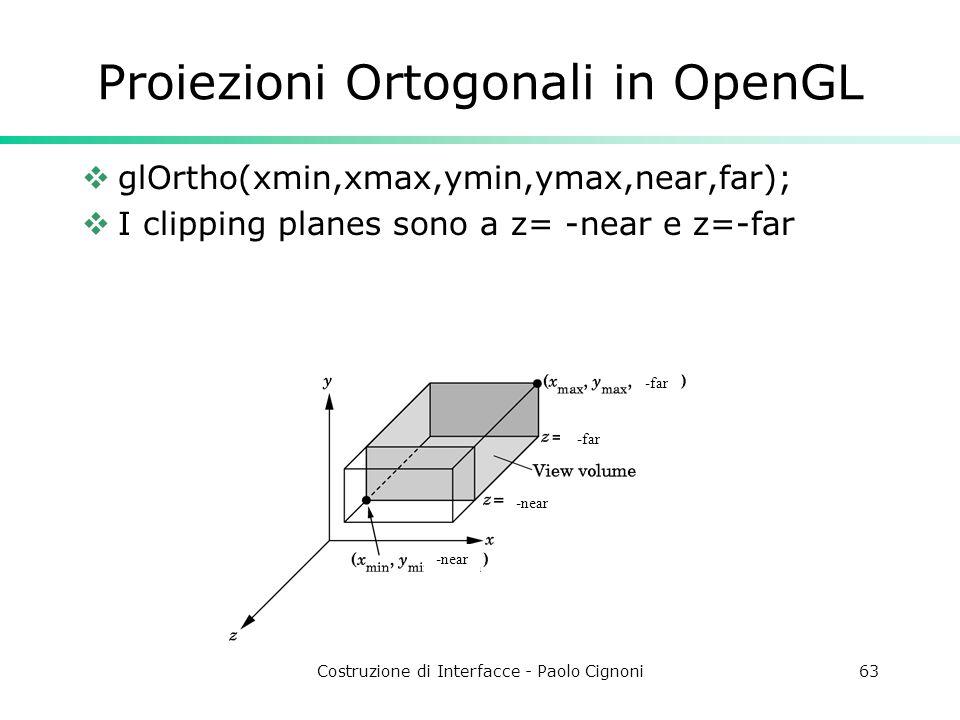 Proiezioni Ortogonali in OpenGL
