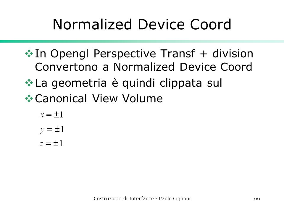 Normalized Device Coord