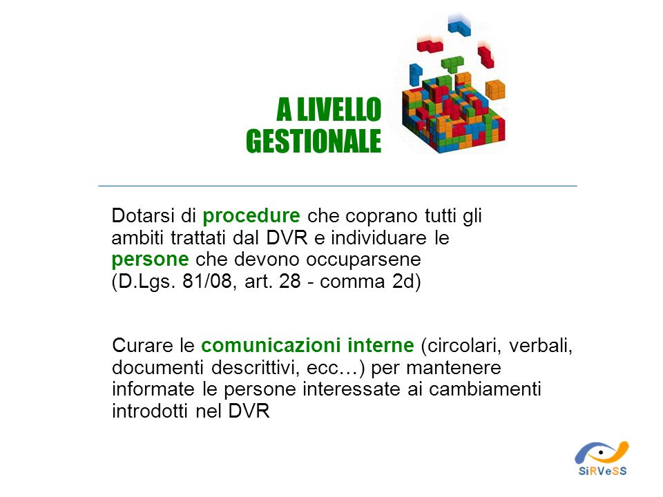 A LIVELLO GESTIONALE.