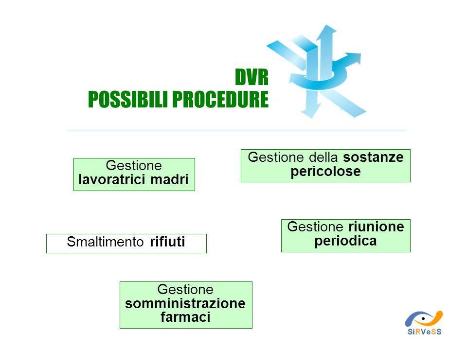 DVR POSSIBILI PROCEDURE Gestione della sostanze pericolose
