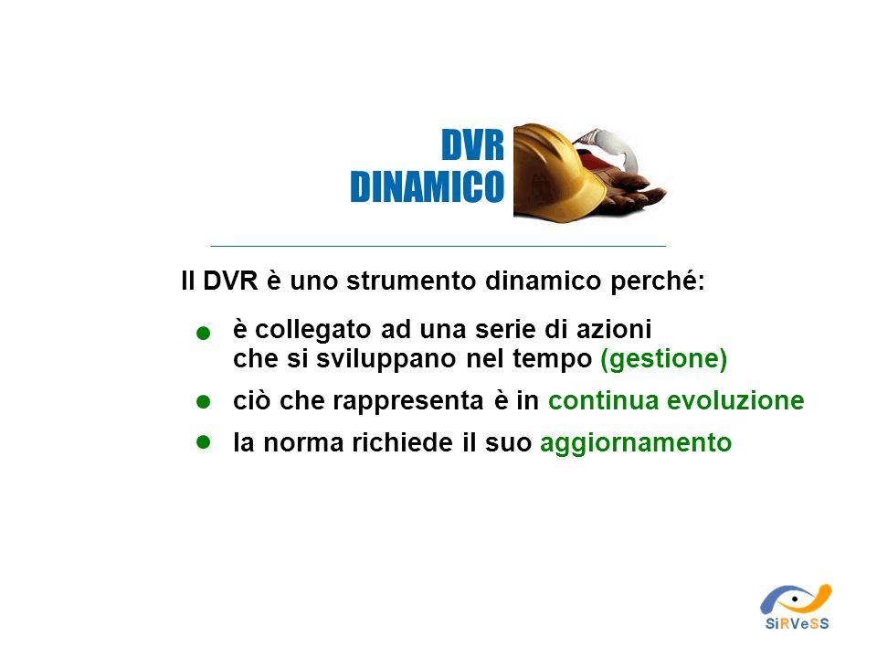 DVR DINAMICO Il DVR è uno strumento dinamico perché: