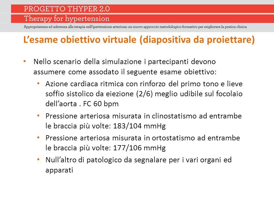 L'esame obiettivo virtuale (diapositiva da proiettare)