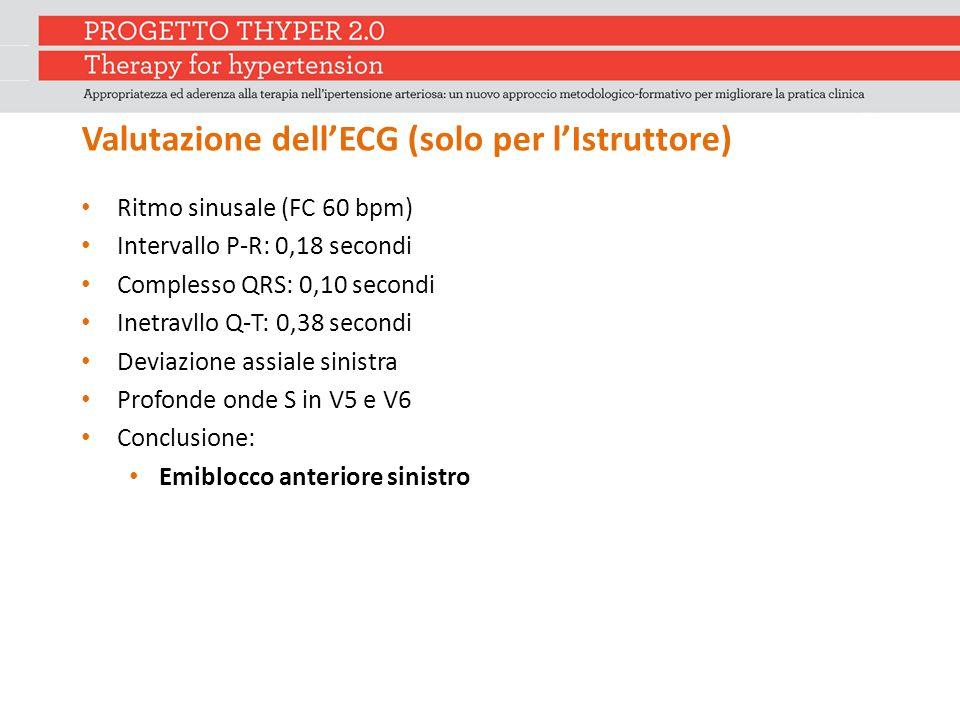 Valutazione dell'ECG (solo per l'Istruttore)