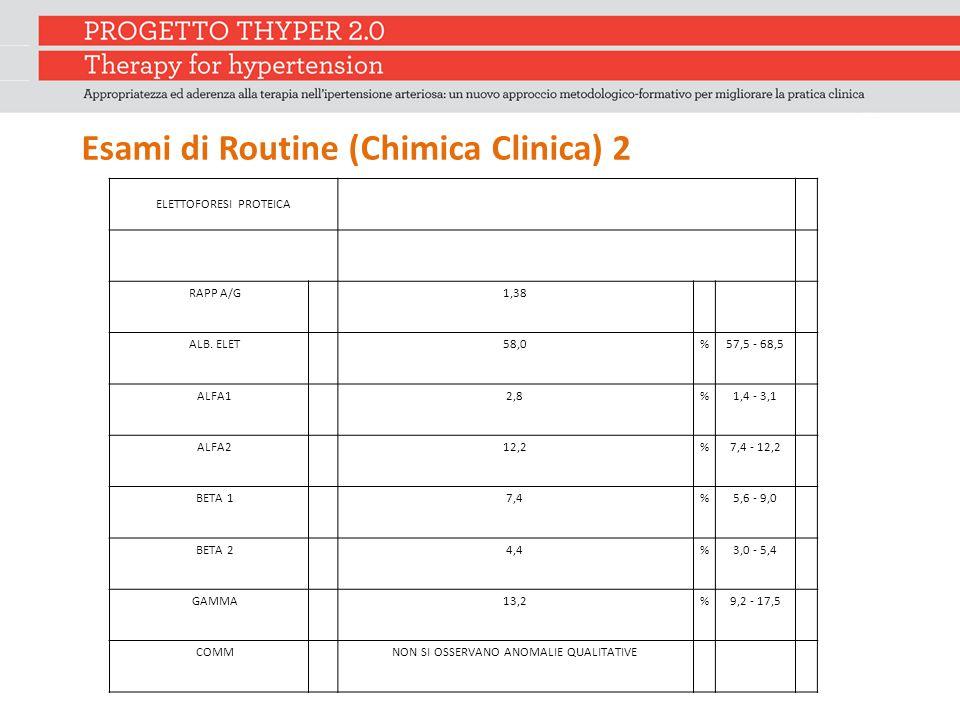 Esami di Routine (Chimica Clinica) 2