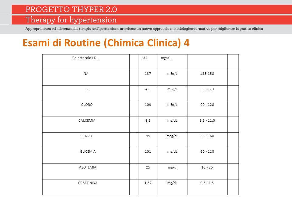 Esami di Routine (Chimica Clinica) 4