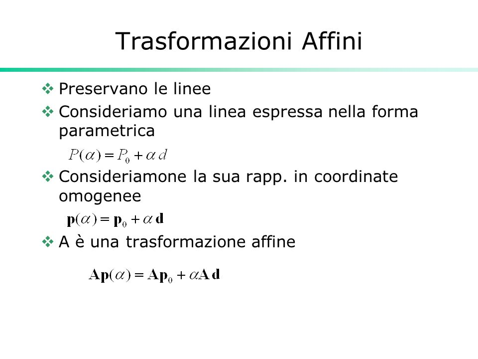 Trasformazioni Affini
