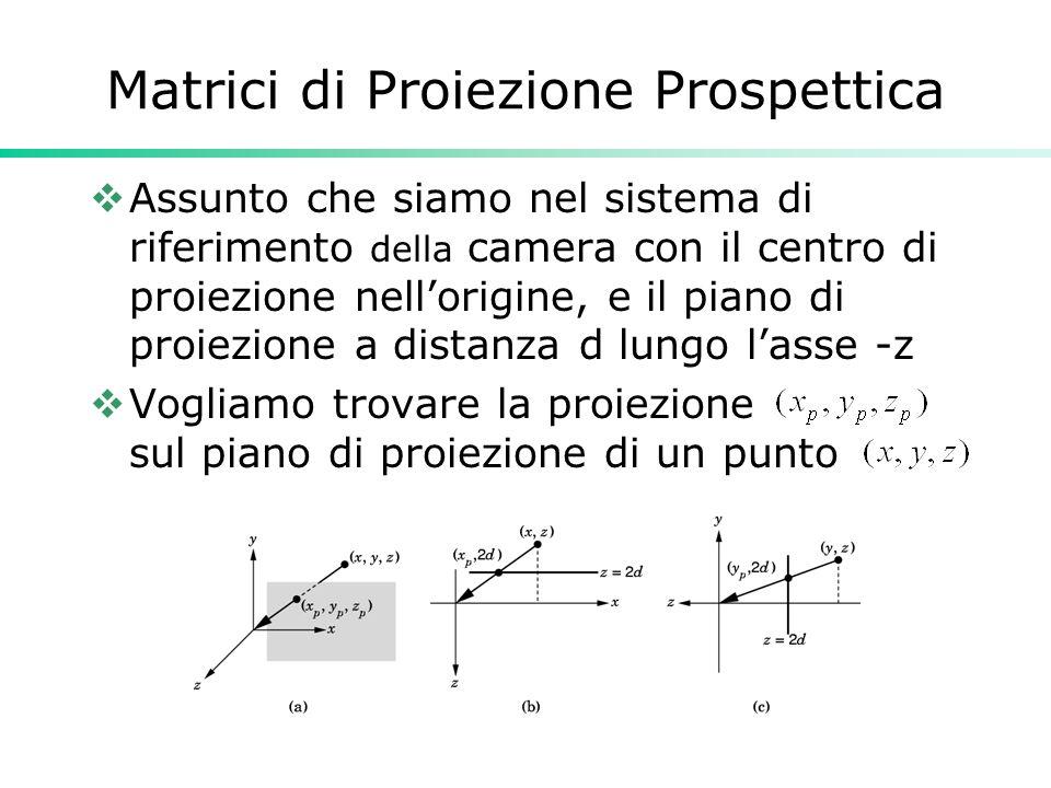 Matrici di Proiezione Prospettica