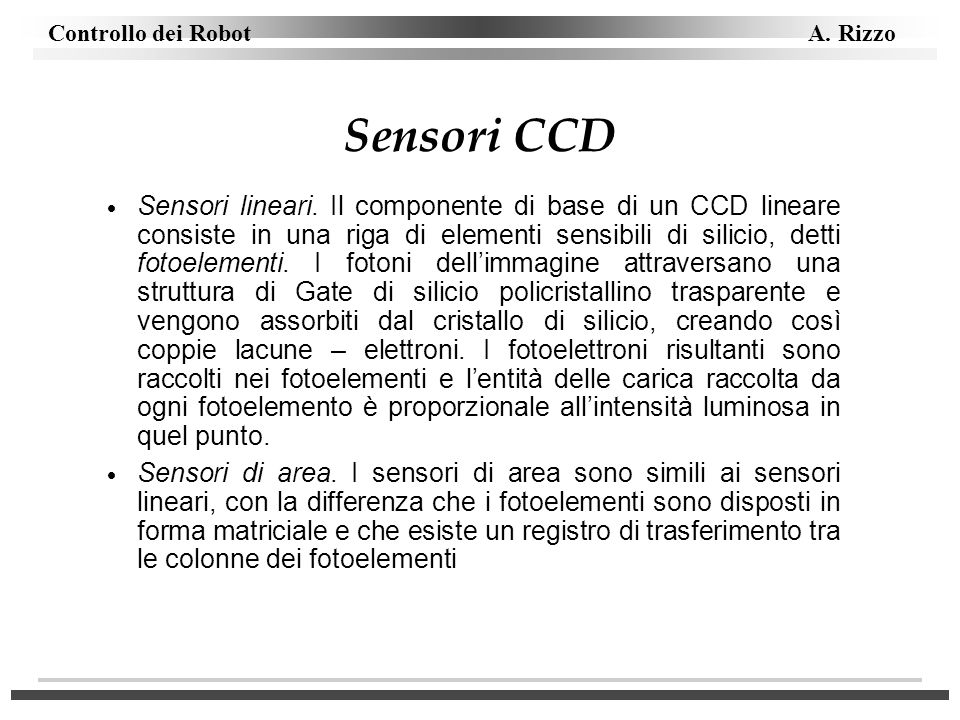 Sensori CCD
