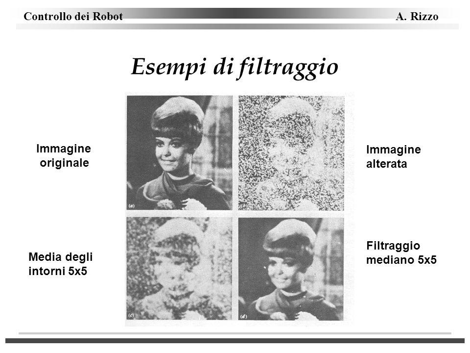 Esempi di filtraggio Immagine Immagine originale alterata Filtraggio