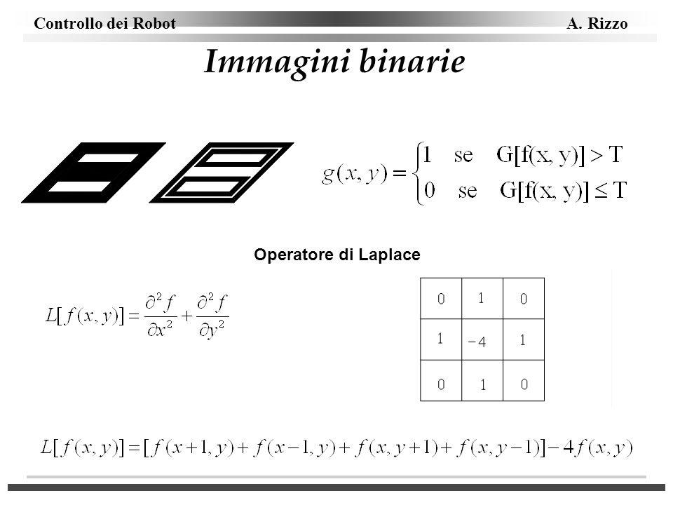 Immagini binarie Operatore di Laplace