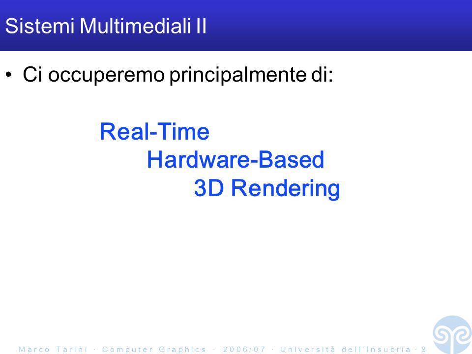 Sistemi Multimediali II