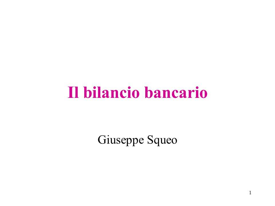 Il bilancio bancario Giuseppe Squeo