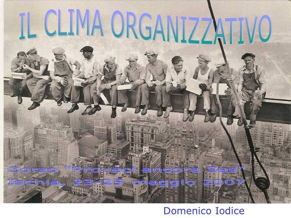 IL CLIMA ORGANIZZATIVO