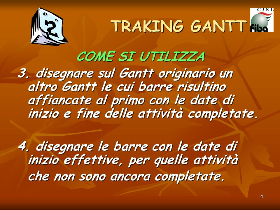 TRAKING GANTT COME SI UTILIZZA