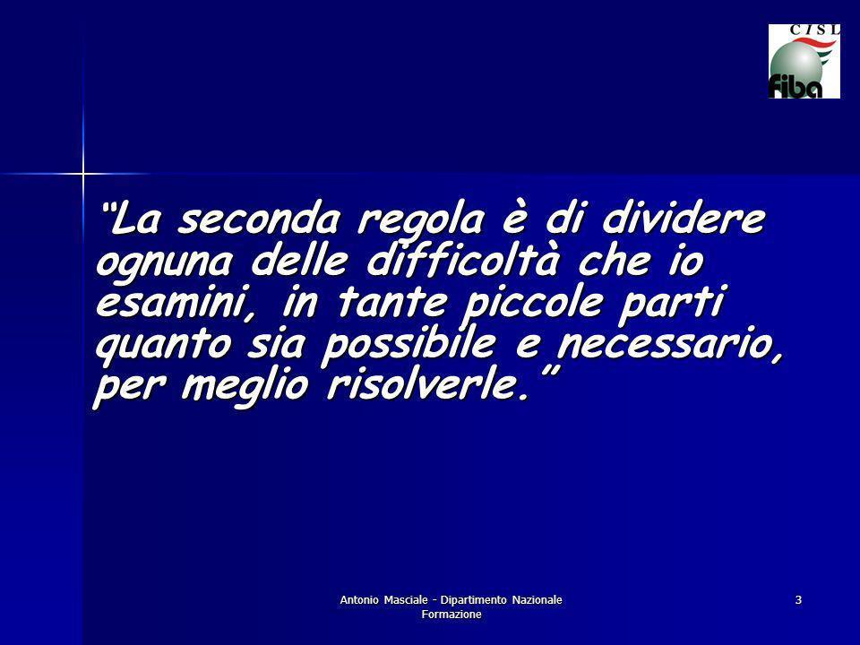 Antonio Masciale - Dipartimento Nazionale Formazione