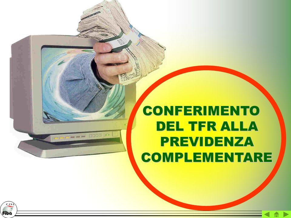 CONFERIMENTO DEL TFR ALLA PREVIDENZA COMPLEMENTARE