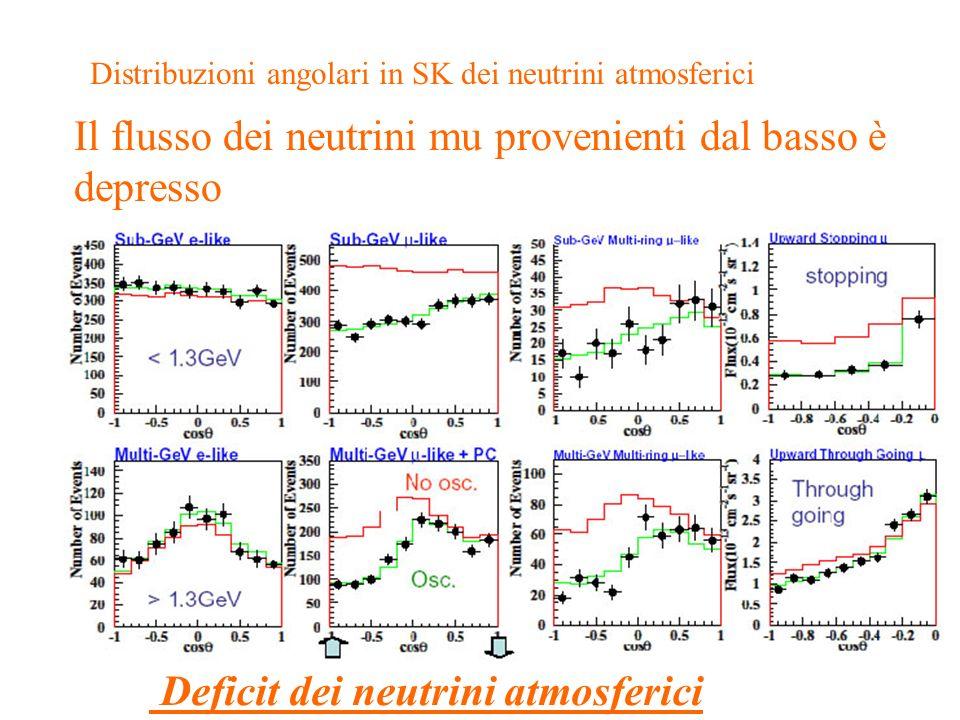 Distribuzioni angolari in SK dei neutrini atmosferici
