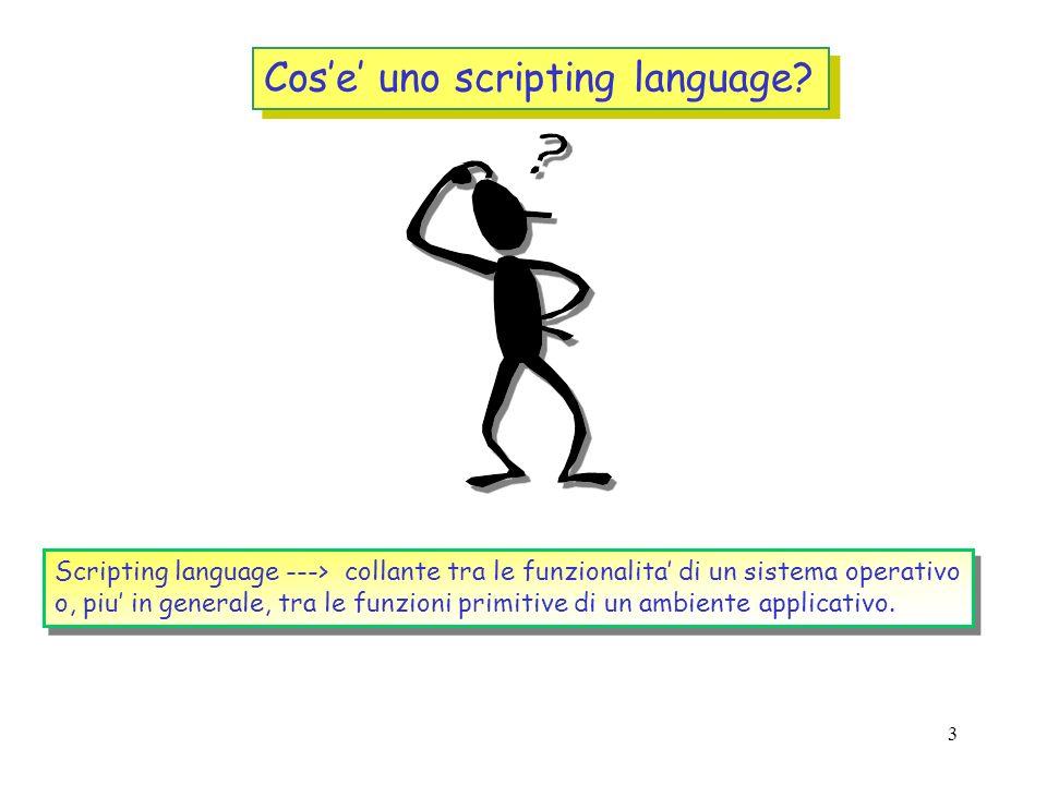 Cos'e' uno scripting language