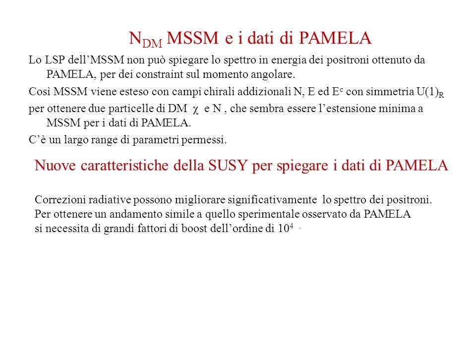 NDM MSSM e i dati di PAMELA