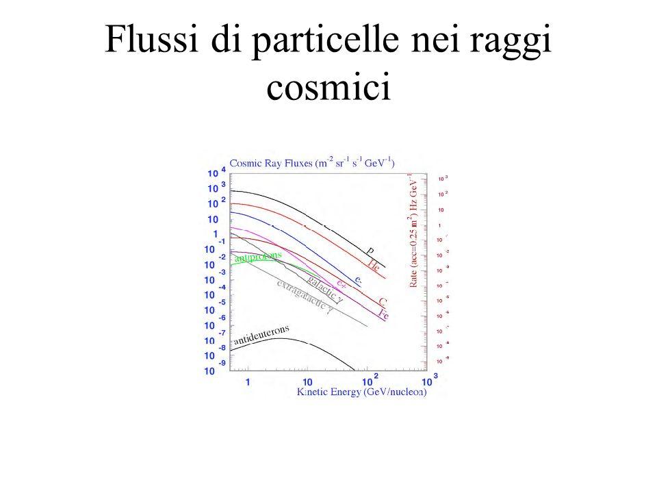 Flussi di particelle nei raggi cosmici