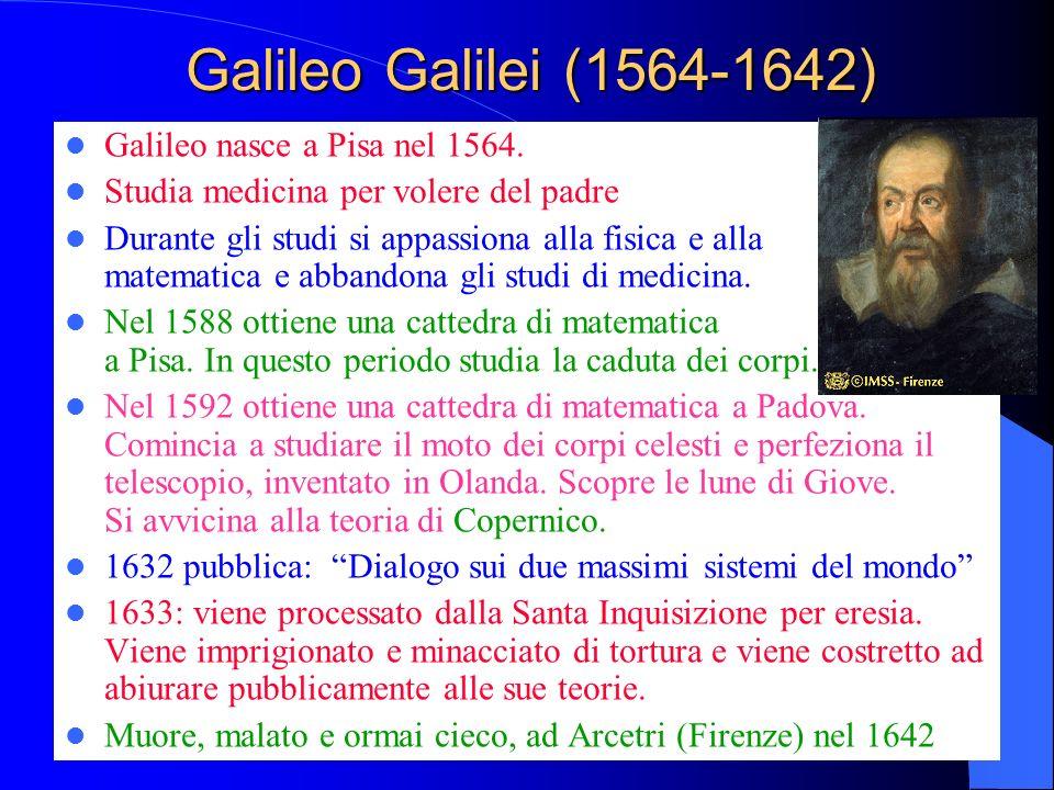 Galileo Galilei (1564-1642) Galileo nasce a Pisa nel 1564.