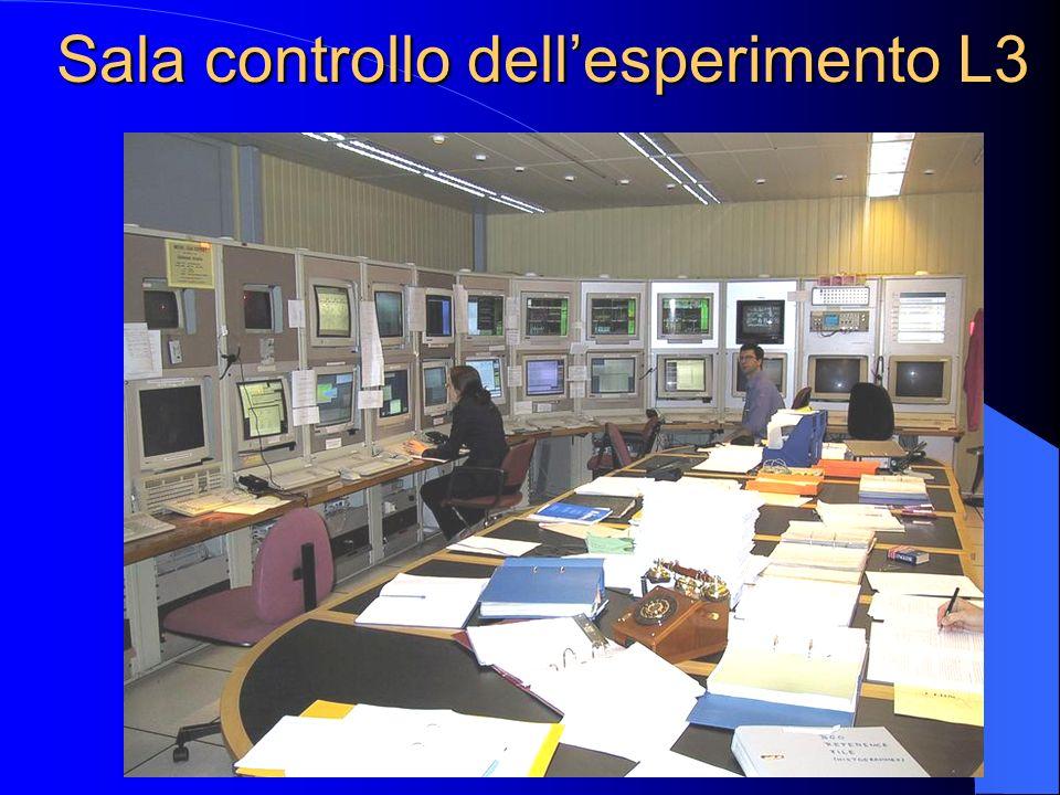 Sala controllo dell'esperimento L3