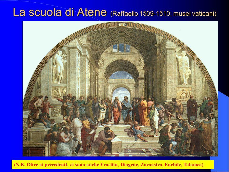 La scuola di Atene (Raffaello 1509-1510; musei vaticani)