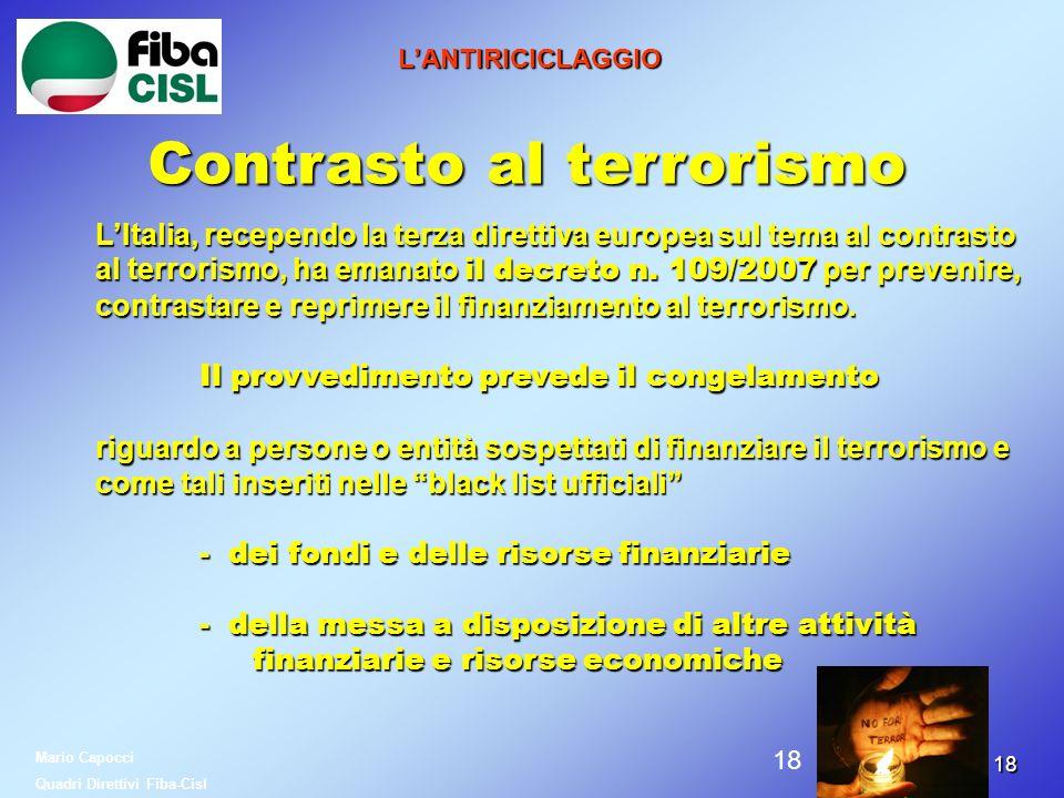 Contrasto al terrorismo