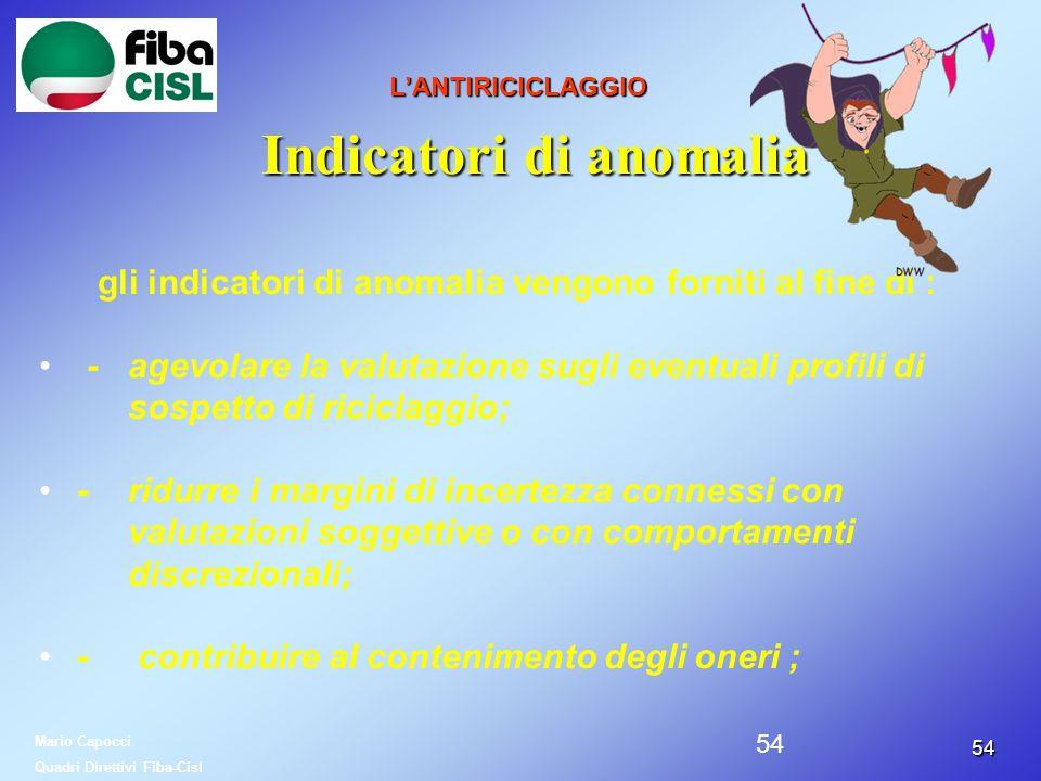 Indicatori di anomalia